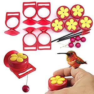 Aroma Trees Handheld Hummingbird Feeders with Perch—Pack of 5