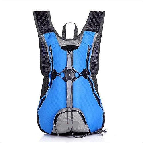 Xiuxiandianju L 15 al aire libre ciclismo mochila impermeables transpirable hombres y las mujeres calidad de mochila de senderismo mochila doble , red Blue
