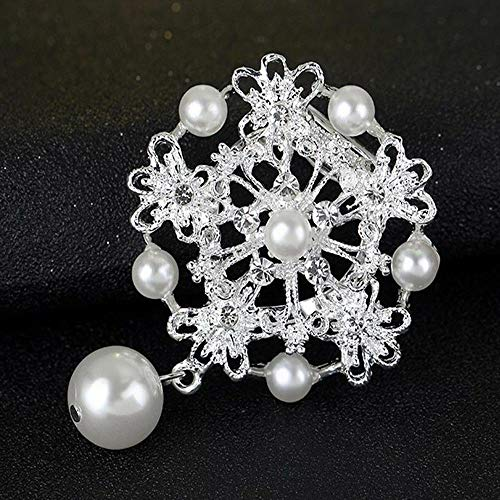 Flower Pearl Pins Bouquet Brooch Breastpin Brooches Scarf Buckle Clips Pin (Size - 5)