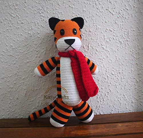 - Big Tiger 20'' Handmade Hobbes Hobbes Tiger Plush Tiger Crocheted Hobbes Stuffed Hobbes Tiger Toy Gifts
