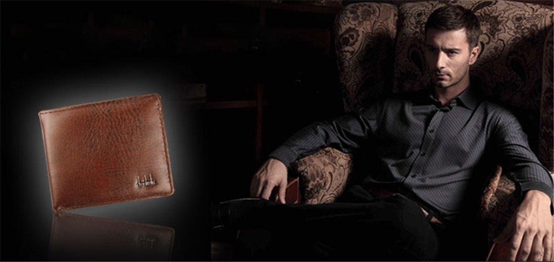 Hemlock Bifold Business Wallets, Men Leather Wallet Credit Card Holder Pocket Purse (Black) by Hemlock (Image #4)