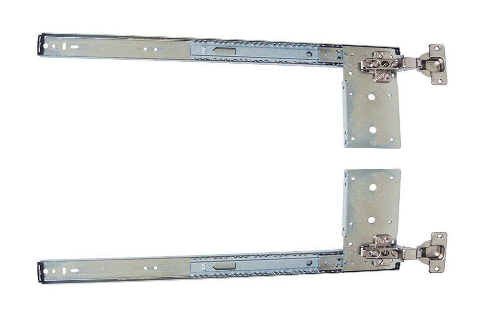 Kv Pivot Door Slide Hardware Inset Application Self Closing 12 1/8'' Slide (Kit) Anochrome