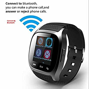 Pulsera Deporte Reloj Inteligente, Smartwach de fitness reloj inteligente para Apple Samsung HTC iPhone,