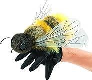 Folkmanis Honey Bee Hand Puppet, Yellow, Black (3028)