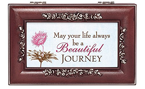 Life Journey Rosewood Finish Jewelry Music Box - Plays You are My Sunshine