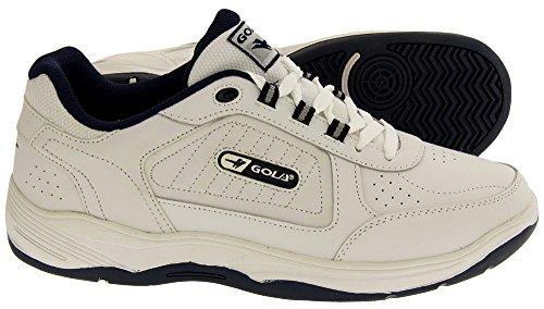 Gola Hommes À Lacets Large coupe EE Sport Cuir Chaussures De Sport - Blanc Bleu Marine, Homme, 46