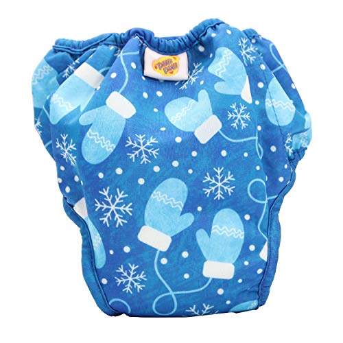 Paw Paw Reusable Cloth Diaper for Babies/Washable Cloth Diapers with Inserts (Medium (5-9 Kg), Snow Flakes Print)