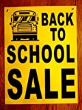1 Pc Wonderful Popular Back to School Sale Sign Window Notice Plastic Coroplast Retail Sold Size 18
