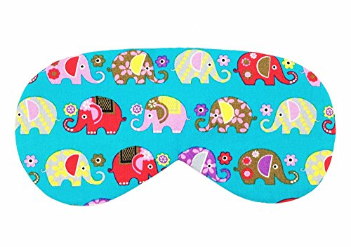 Sleeping Sheep Cute Sleep Mask (Turquoise Elephants) Comfortable Face Blindfold Cotton Super Soft Eyeshade Eye Mask with Satin Sleeping Mask for Men, Women or Kids (Fuzzy Mask Pink Sleep)