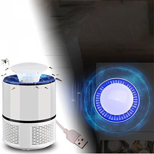 YESIDO PElectric Mosquito Insect Zapper Killer with Trap Lamp, Chemical-free USB Powered UV LED Light Photocatalyst Fly Bug Dispeller with Suction Fan for Indoor Home Elimination Machine by YESIDO (Image #3)