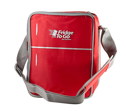 Price comparison product image Fridge-To-Go Insulated 12 Can Cooler MiniFridge (Red)