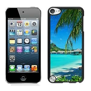 Bora Bora Resort Bungalows Black Cool Customized Design iPod Touch 5 Case
