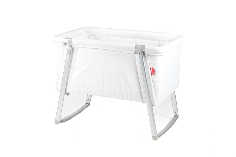 DREAM multifunktionales Babybett von BABYHOME, Farbe: weiß - Babybett + Stubenwagen + Wiege + Reisebett in einem, inkl. Matratze, Matratzenauflage, Schlafsack und Transporttasche