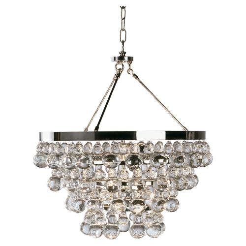 Robert Abbey Z1000 Chandeliers with Glass Drops Shades, Deep Patina Bronze Finish