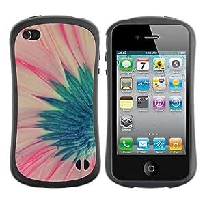 LASTONE PHONE CASE / Suave Silicona Caso Carcasa de Caucho Funda para Apple Iphone 4 / 4S / flower green pink spring floral petal