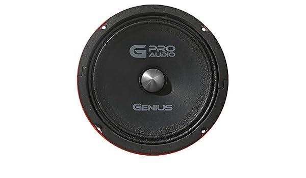 Genius GPRO-M068 8 400 Watts-Max Midrange Neodymiun Car Audio Speaker 4-Ohms Aricasa