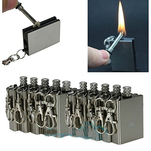 20Pcs Survival Emergency Camping Fire Starter Flint Metal Match Lighter Hiking by Unknown