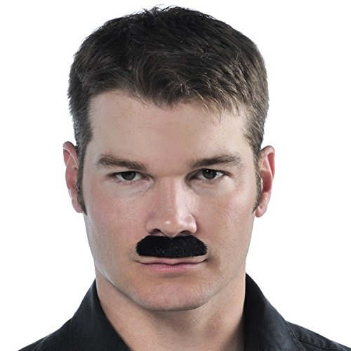 Amscan Black Moustache - Wacky Facial Hair Costume -