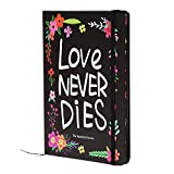 FLYFLAY Notebook Writing Journal for Girls | Ruled Hardcover Travel Diary with Beautiful Flower Designs - Elegant Print, Small Sized, Premium Paper - 160 Pages Floral Pattern Cover + 8.3 x 5.5 inch