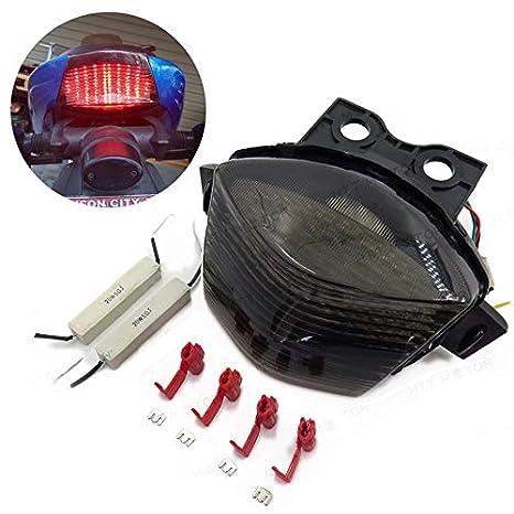 Motorcycle Parts Auto Parts and Vehicles Smoke LED Tail Brake Light For Kawasaki Ninja 650R EX650 ER-6F 2006 2007 2008