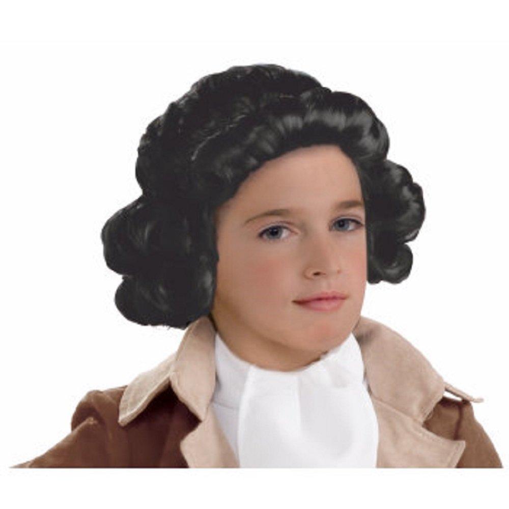 Forum Novelties Kids Colonial Boy Wig, Black, One Size 78941
