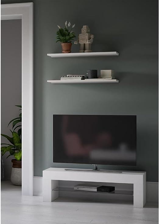Mobili Fiver, Evolution Mueble de TV, Color Blanco Ceniza, 112 x 40 x 36 cm: Amazon.es: Hogar
