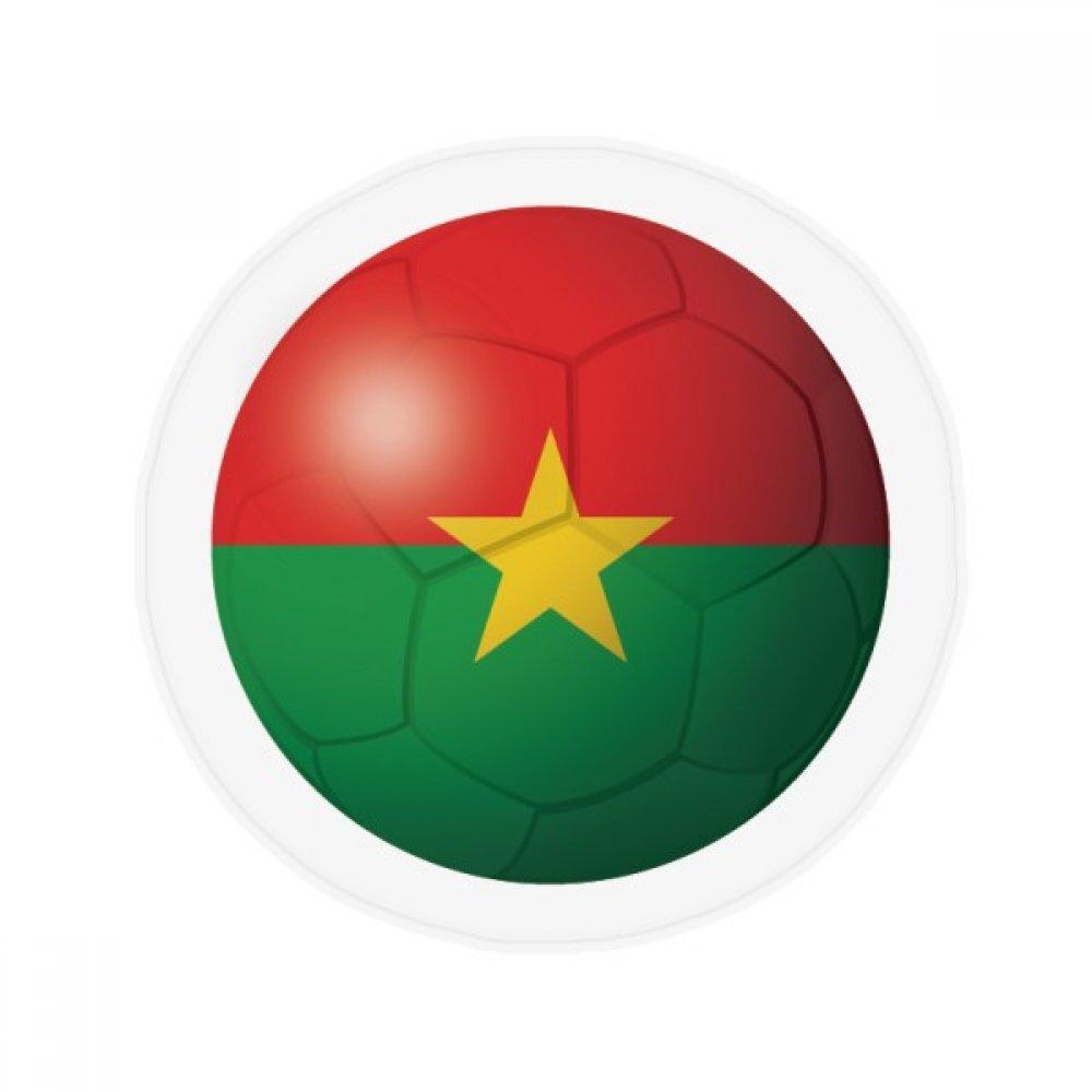 60X60cm DIYthinker Burkina Faso National Flag Football Anti-Slip Floor Pet Mat Round Bathroom Living Room Kitchen Door 60 50Cm Gift