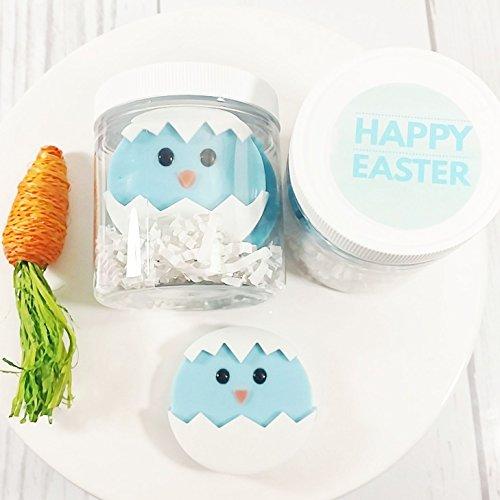 Blue Easter Chicks Soap Gift Set. Basket Stuffers for little boys. Jelly Bean Scented Soaps ()