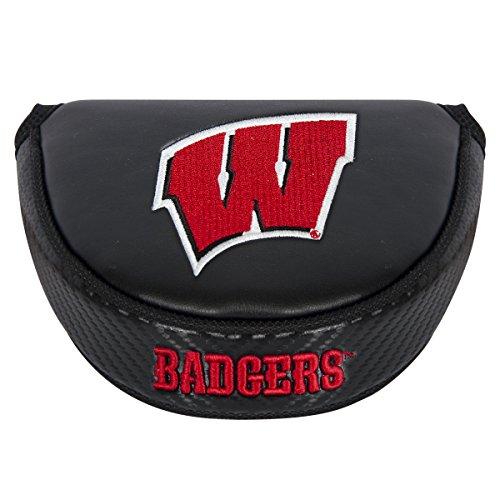 Team Effort NCAA Wisconsin Badgers Mallet Putter Coverblack Mallet Putter Cover, Black, NA ()