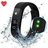 Fitness Tracking Smart Watch, Waterproof Smart Bracelet Heart Rate Monitor Bracelet with Calories Compatible with iOS and Android Men's and Women's Children