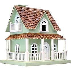 Home Bazaar Hand-made Hobbit House Mint Green Bird House - Big Bird House - Home Decor
