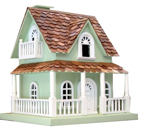 - Home Bazaar Hand-made Hobbit House Mint Green Bird House - Big Bird House - Home Decor
