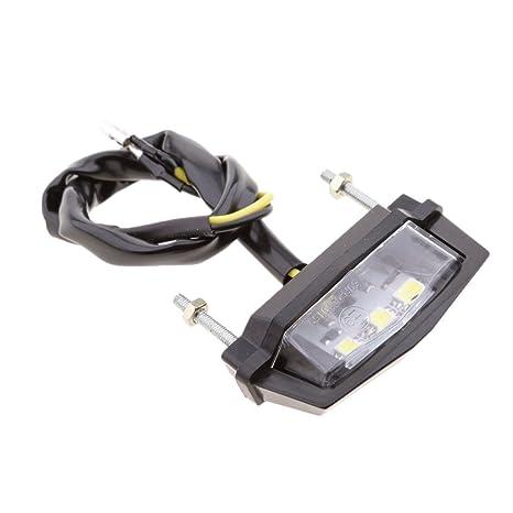 perfk 1 unidad Luz LED Número de matrícul Làmpara Accesorios para Moto