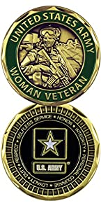 U.S. Army Woman Veteran Challenge Coin