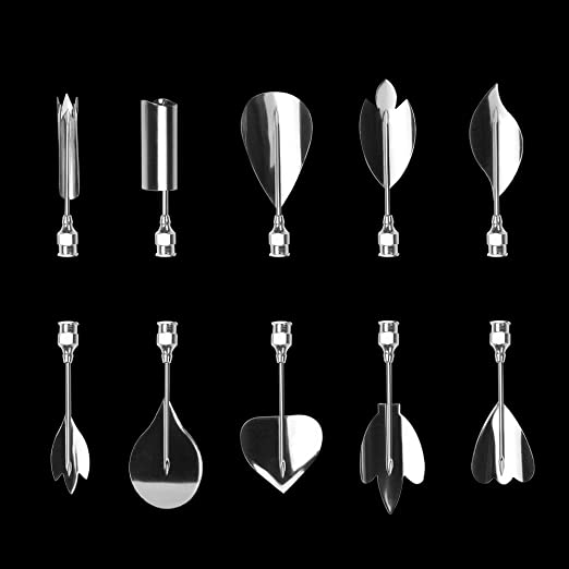 Amazon.com: LOHOME 3D Gelatin Art Tools - Set of 10-pieces Jelly Cake Stainless Steel Needles Coming with One 10ml Syringe - Pudding Pastry Nozzles (Flower ...