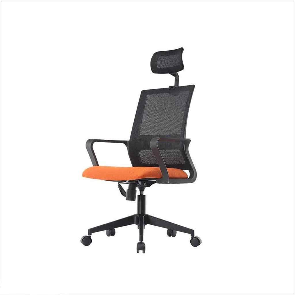 XUERUI 快適 Eスポーツゲームチェア人間工学に基づいたチェアリフティング回転チェアオフィス家庭用通気性快適な固定式アームレスト 耐久性のある (色 : Black+orange-B) B07PK9FLPK Black+orange-B