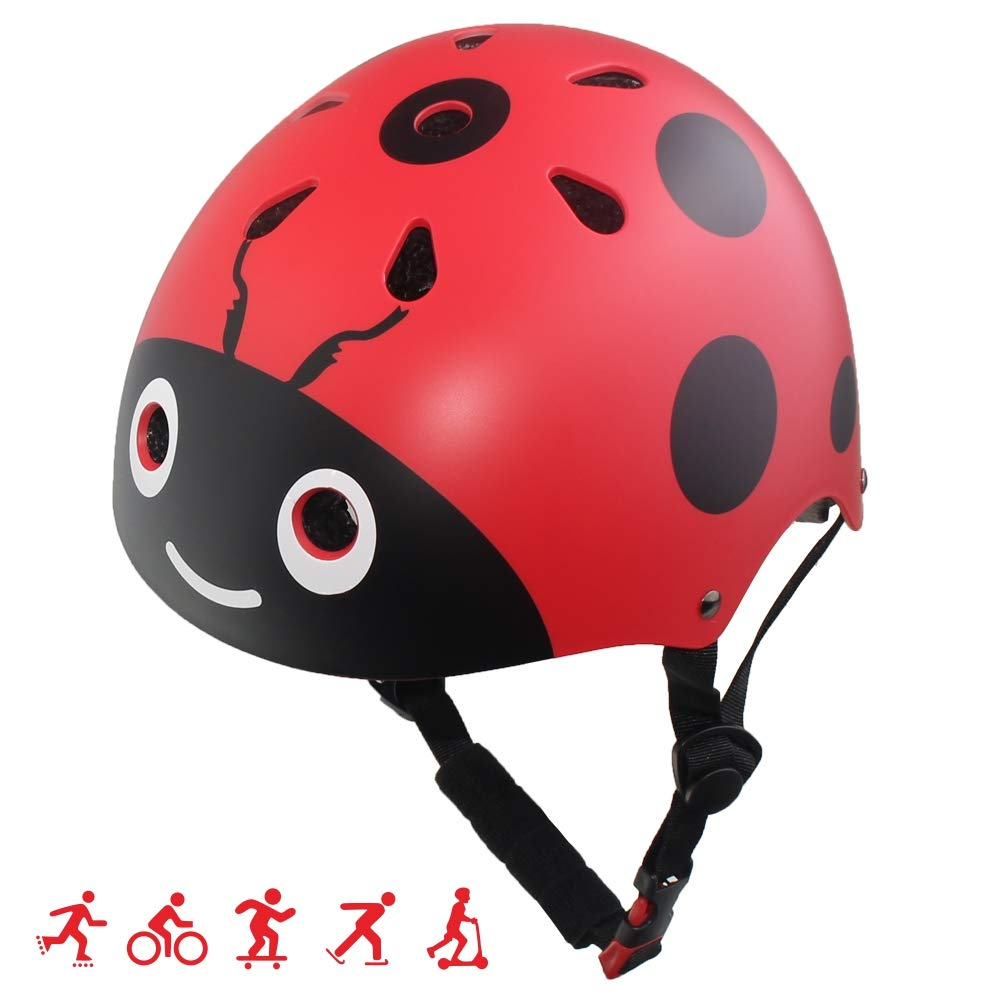 LANOVAGEAR Toddler Kids Helmet Adjustable CPSC Certified Helmet Impact Resistance Ventilation for Multi-Sports Cycling Rollerblading Skateboarding