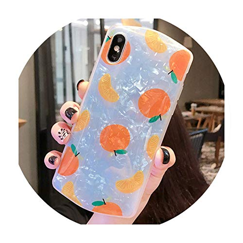 - Peaches Pattern for iPhone 10 X XR XS MAX XR Shell Pattern Mobile Phone Case for iPhone 6s 7 8 8p Upper and Lower Convex Shape,Style A,for iPhone 8 Plus