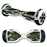 MightySkins Protective Vinyl Skin Decal for Hover Board Self Balancing Scooter mini 2 wheel x1 razor wrap cover sticker Green Camo