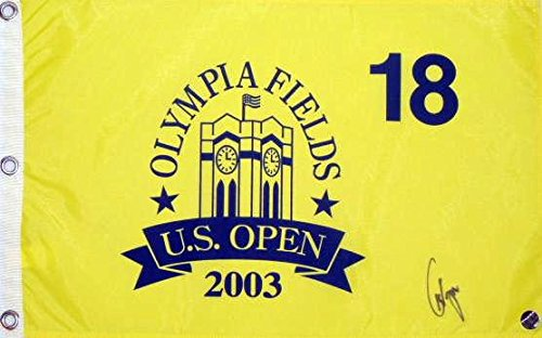 Paul Azinger Autographed 2003 Olympia Fields U.S. Open Pin Flag - Fanatics Authentic Certified - Autographed Golf Pin Flags (Paul Azinger Memorabilia)