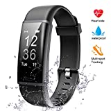 Lintelek Fitness Tracker, Heart Rate Monitor Activity Tracker Sleep Monitor, Measuring Calories Step Counter IP67 Waterproof Smart Watch Wearable Device for Men Women Kid Android iOS Veryfitpro