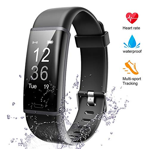 Lintelek Fitness Tracker, Odometer Heart Rate Monitor Activity Tracker Sleep Monitor, Calories Step Counter IP67 Waterproof Smart Watch Wearable Device for Android iOS Men Women Kid Veryfitpro