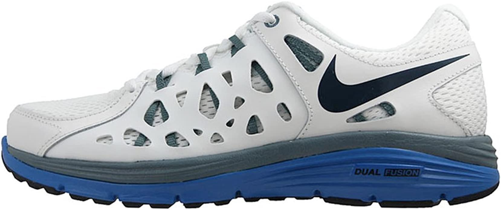 Nike Dual Fusion Run 2, Zapatillas de Running para Hombre, Blanco/Azul (SMMT Wht/Armry Nvy-Armry Slt-P-), 47 EU: Amazon.es: Zapatos y complementos