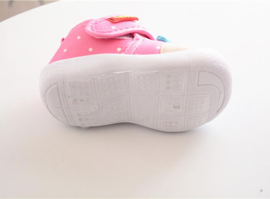 Pink, Age:18~24M Starxin Toddler Infant Kids Baby Boys Girls Cartoon Anti-slip Shoes Soft Sole Squeaky Sneakers