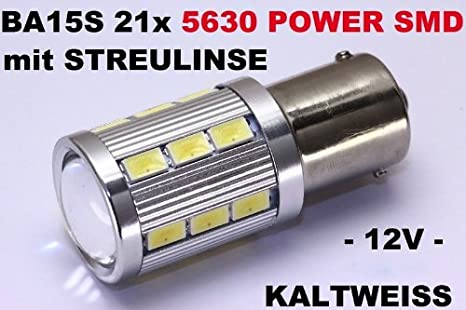 SMD BA15S - Bombilla 21 5630 SMD (dispositivo de montaje superficial), Power led