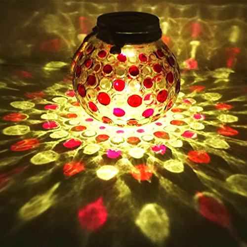 Red Diamond Solar Light Glass Jar Sogrand Small Glass Jars with Lids Hanging Lights Hanging Solar Lights Outdoor