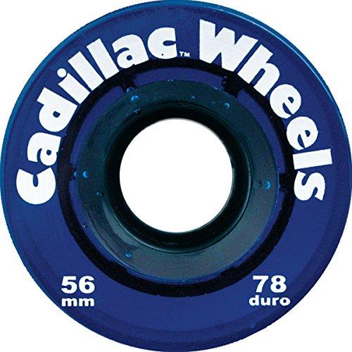 すきスマート隣接するCadillac Wheels Blue Skateboard Wheels - 56mm 78a (Set of 4) by Cadillac Wheels