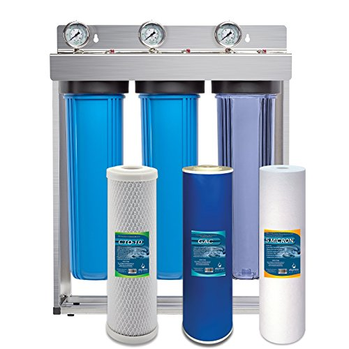 Express Water Whole House Water Filter System GAC Carbon Sediment 3 Stage Filtration 4.5'' x 20'' Inch by Express Water