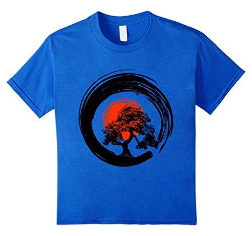 Bonsai Tree Japanese Calligraphy Rising Sun Zen T-Shirt