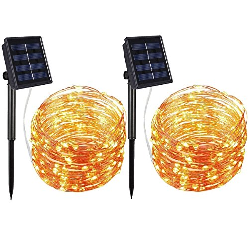 Solar Powered 100 Led String Lights